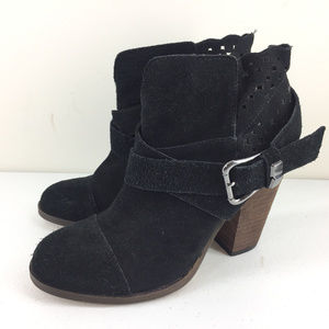 New Betsey Johnson Neeto Boots 8 M Black Suede